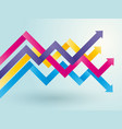 chart of colored arrows vector image