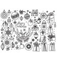 christmas doodle collection vector image vector image