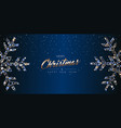 christmas web banner luxury card of snowflakes vector image