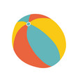 colorful beach ball in flat style yellow red vector image vector image