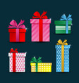 colorful gift box collections vector image vector image