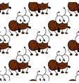 Cute little cartoon ant seamless pattern vector image