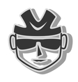 cyclist sunglasses helmet icon vector image vector image