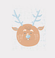 deer cartoon cute animal vector image vector image