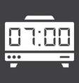 digital clock solid icon electronic and alarm vector image vector image