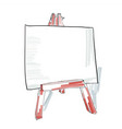 easel with blank canvas doodle style sketch vector image vector image