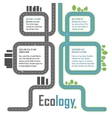 Ecology elements vector image