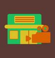 flat icon building cinema vector image vector image