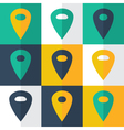 flat pin icons set vector image vector image