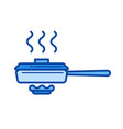 frying pan line icon vector image