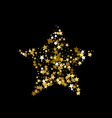 golden christmas star gold star confetti vector image