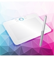 graphics tablet with stylus vector image vector image