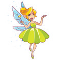 Green fairy on white vector image