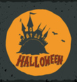 Halloween with a fairytale ghost castle vector image