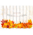 happy thanksgiving background with colorful fruit vector image