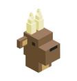 head bull modular animal plastic lego toy blocks vector image vector image