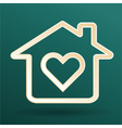 home heart love vector image vector image