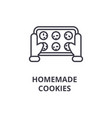 homemade cookies line icon outline sign linear vector image vector image