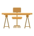 Isolated table with seat design vector image