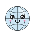 kawaii earth globe diagram icon vector image