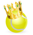 king of tennis vector image vector image