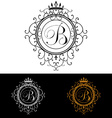 Letter B Luxury Logo template flourishes vector image vector image