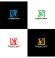 letter n logo icon flat and design vector image vector image
