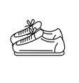 line sneakers to practice exercise and train vector image