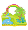 Open book - beautiful princess in the garden vector image