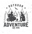outdoor adventure concept vector image vector image