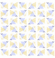 pattern triangles from points of gold vector image