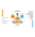 pitta dosha - body type in ayurveda vector image