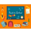 Poster from the school and education icons vector image vector image