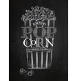 Poster popcorn chalk vector image vector image