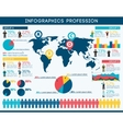 Profession Infographic Set vector image vector image
