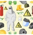 Protective clothing and equipment pattern vector image