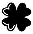 quatrefoil leaf icon simple black style vector image vector image