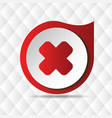 red cross icon geometric background image vector image