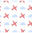 seamless pattern with clouds and planes vector image vector image