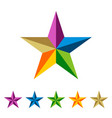 set colorful star logo template vector image vector image