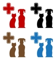 set colorful veterinary care icon vector image