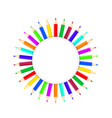 set of bright color pencils on white stock vector image vector image