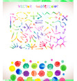 set of watercolor arrows vector image vector image