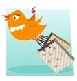 shopping bird vector image