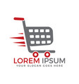 shopping cart logo design vector image