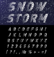 Snow font vector image