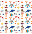 summer element on seamless pattern vector image