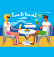 summer travel resort vector image
