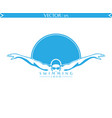 swimming logo vector image vector image