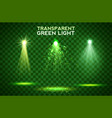 transparent green light effects on a dark vector image vector image